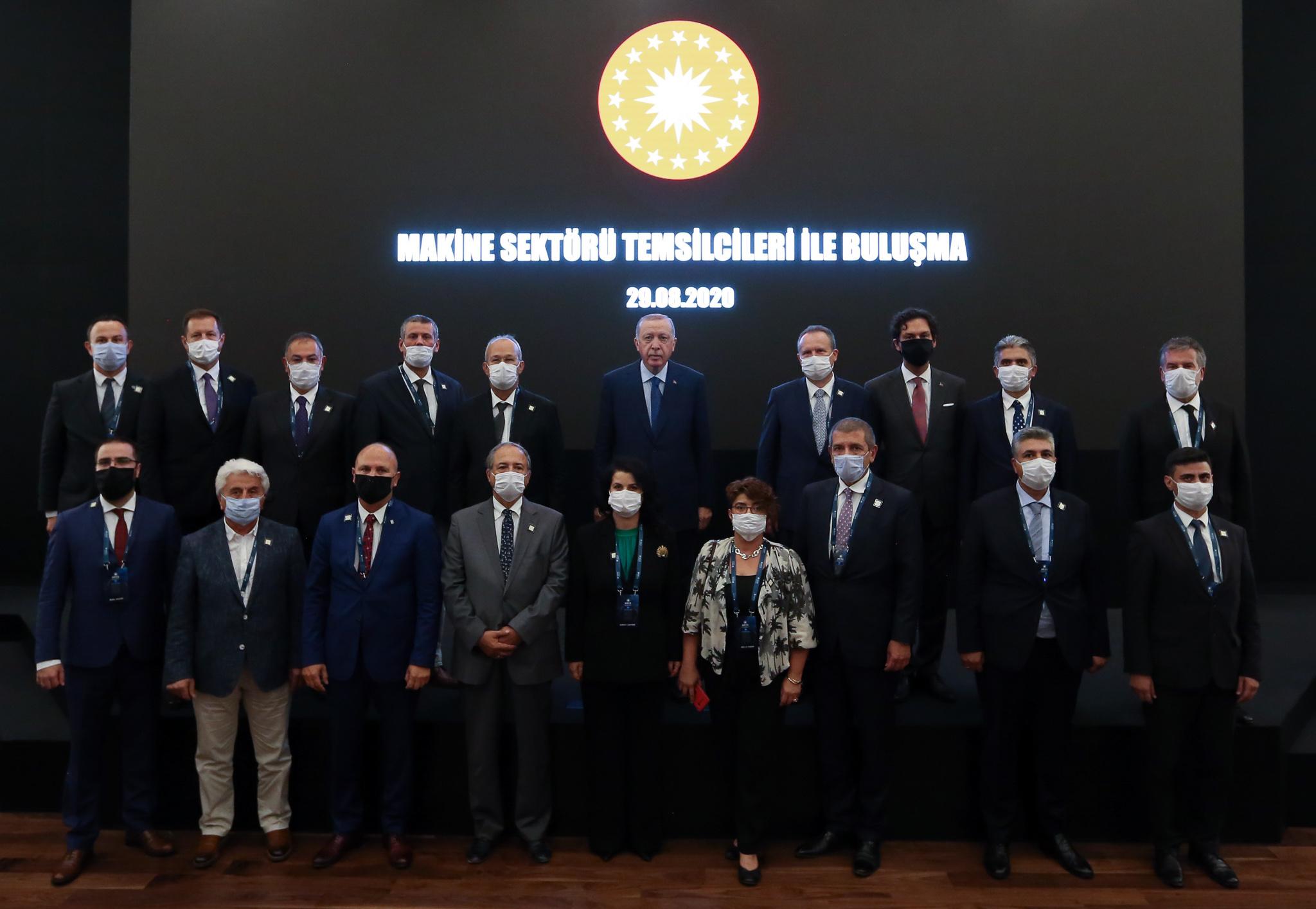 Cumhurbaşkanı Erdoğan Makina İmalatçıları Birliği Yönetim Kurulu Üyeleri ile buluştuç